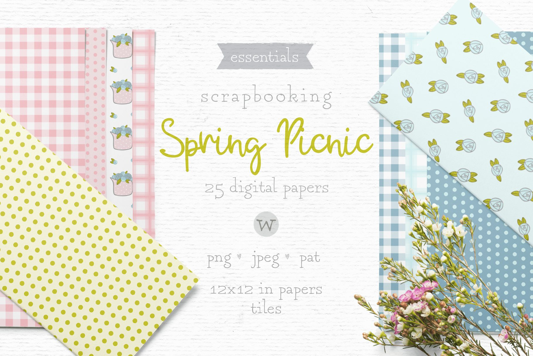 The Spring Picnic pattern pack-min