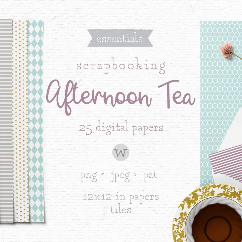 Digital papers for scrapbooking