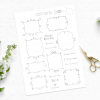 Printable clipart frames and sentiments