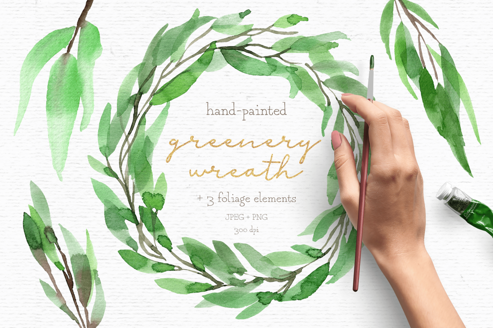 rustic wreath clipart