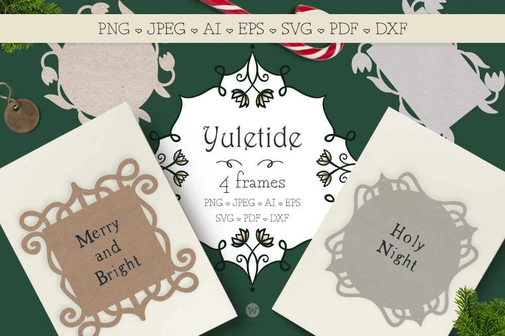 Christmas card SVG bundle