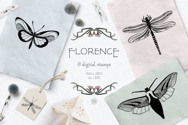 Butterfly clipart by Wallifyer