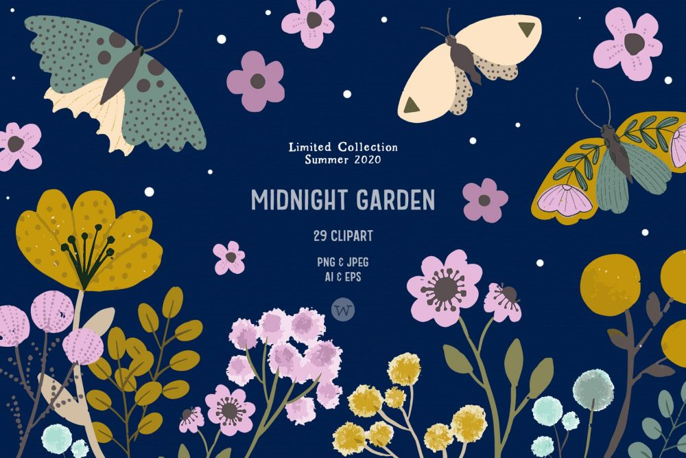wildflowers clipart